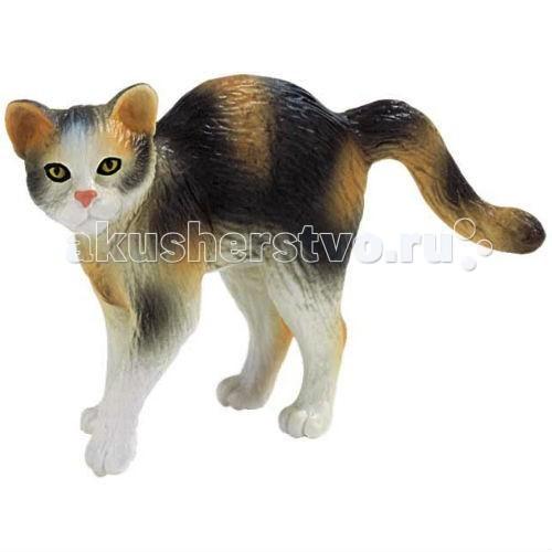 Bullyland Фигурка Кот трехцветный 7 смФигурка Кот трехцветный 7 смBullyland Фигурка Кот трехцветный 7 см. - согласно исследованиям, среди трехцветной породы коты встречаются крайне редко. Можно сказать, что почти «трехцветки» - кошки. К сожалению, даже яркий окрас не позволяет отнести «трехцветок» к конкретной породе.   В культуре разных стран трехцветная кошка ценится по-своему. Но в одном все сходятся: трехцветная кошка приносит удачу и деньги своему хозяину. Фигурка трехцветного кота удивительно похожа на настоящего.   Дети любят фигурки животных, особенно котов и собак. А фигурка милого, трехцветного котика вызовет положительные эмоции у ребенка.   Выполненная из высококачественных, нетоксичных материалов игрушка абсолютно безопасна для детей.   Размер: 75 х 33 х 50 мм.<br>