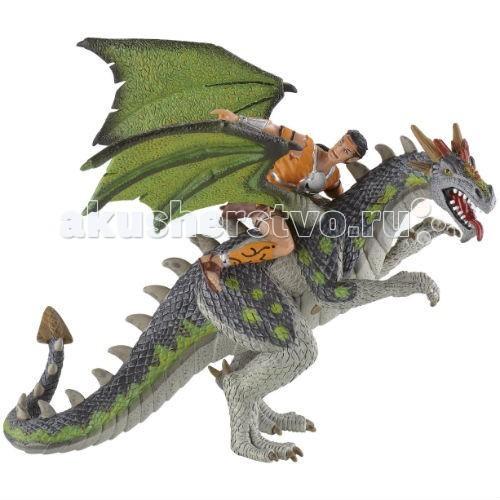 Bullyland Фигурка Дракон и воин 18 см