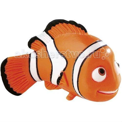Bullyland рыбка Немо 5,5 смрыбка Немо 5,5 смBullyland Немо 5,5 см - фигурка рыбки-клоуна Немо из мультфильма «В поисках Немо». Непослушный и своевольный малыш Немо попадает в аквариум и заводит новых друзей. Его ждут невероятные приключения и незабываемые встречи. Добрый и обаятельный Немо очень нравится детям, он станет другом вашего малыша.   Фигурка рыбки-клоуна полностью соответствует герою мультфильма.   Игрушка выполнена из высококачественных, нетоксичных материалов и безопасна для детей.   Размер: 5,5 см<br>