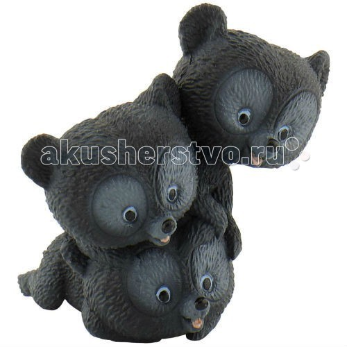 Bullyland Фигурка Мишки-тройняшки 4,5 смФигурка Мишки-тройняшки 4,5 смBullyland Фигурка Мишки-тройняшки 4,5 см - фигурка мишек-тройняшек из мультфильма студии Пиксар Храбрая сердцем. Братья принцессы Мериды, превращенные вместе с их матерью в медведей. Цель принцессы - как можно быстрее расколдовать их, пока охотник-отец и его друзья не застрелили мишек. Милые и забавные фигурки непоседливых медвежат, может использоваться в качестве различных персонажей в детских играх.   Игрушка выполнена из высококачественных нетоксичных материалов, безопасна для детей.   Размер: 4,5см<br>