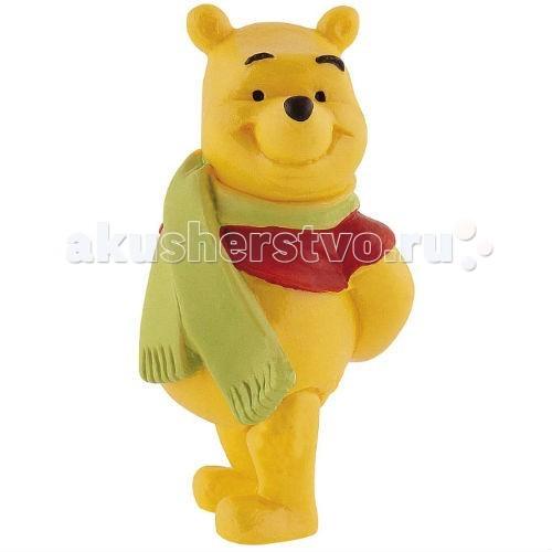 Bullyland Винни с шарфом 6,1 смВинни с шарфом 6,1 смBullyland Винни с шарфом 6,1 см - фигурка медвежонка Винни-Пуха из мультфильма студии Уолта Диснея Винни-Пух и все, все, все. Позвольте представиться, я - Винни-Пух! Замечательный плюшевый любимец детей и взрослых. Больше всего на свете я люблю сладкий и душистый мед. Мой лучший друг – поросенок Хрюня. Перед вами моя фигурка в шарфике, милая и обаятельная, с легкой дружелюбной улыбкой. Приходите ко мне, я очень хочу стать вашим другом!   Игрушка выполнена из высококачественных, нетоксичных материалов и безопасна для детей.   Размер: 6,1 см<br>