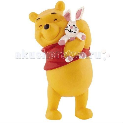 Bullyland Винни и кролик 6,3 смВинни и кролик 6,3 смBullyland Винни и кролик 6,3 см - фигурка Винни и Кролик из мультфильма студии Уолта Диснея Винни-Пух и все, все, все. Образованный Кролик живет в норе. Он умеет читать, его пытливый ум помогает ему решить самые трудные ситуации. Персонаж любит Винни-Пуха за его веселый нрав и жизнелюбие. Кролик дружит со всеми обитателями леса, но, по сути, является одиночкой. Фигурка Винни-Пуха с Кроликом, выражает тепло и привязанность персонажей друг к другу.   Игрушка выполнена из высококачественных, нетоксичных материалов и безопасна для детей.   Размер: 6,3 см<br>