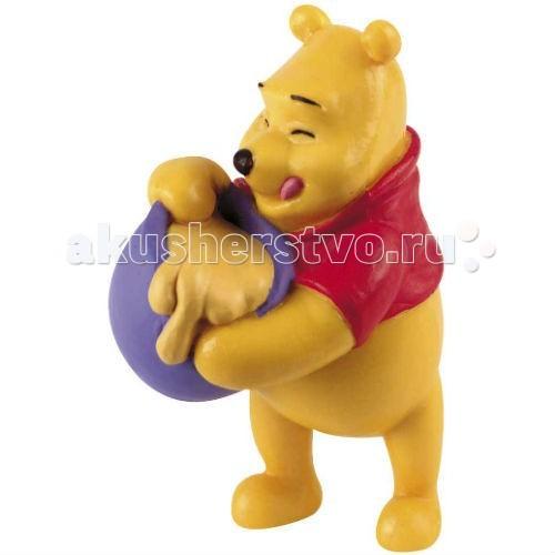 Bullyland Винни и бочонок меда 6,5 смВинни и бочонок меда 6,5 смBullyland Винни и бочонок меда 6,5 см - фигурка Винни-Пуха с бочонком меда из мультфильма студии Уолта Диснея Винни-Пух и все, все, все. Любимец публики - мягкий плюшевый Винни-Пух - больше всего любит мед. И, похоже, что кто-то его угостил этим замечательным лакомством!   Фигурка медвежонка выражает безмерное удовольствие от кушанья. Игрушка выполнена из высококачественных, нетоксичных материалов и безопасна для детей.   Размер: 6,5 см<br>