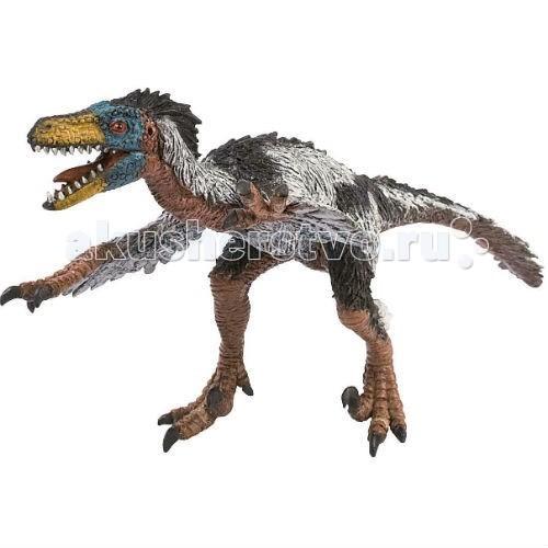 Bullyland Фигурка динозавр Велоцираптор 24 смФигурка динозавр Велоцираптор 24 смBullyland Фигурка динозавр Велоцираптор 24 см - фигурка динозавра Велоцираптора из серии Доисторическая фауна. Хищное и агрессивное животное. Велоцираптор обладал небольшими размерами: достигал 60 см в высоту и весил около 20 кг. Но именно миниатюрный размер придавал ему живость и быстроту. Персонаж достаточно часто используется в качестве героя в компьютерных играх, мультфильмах и кинофильмах.   Эта фигурка Велоцираптора выполнена в соответствии с его реальными пропорциями и особенностями скелета. Собирая животных серии Доисторическая фауна, вы можете стать обладателем уникальной коллекции представителей древнего мира.   Фигурка выполнена из высококачественных, нетоксичных материалов и безопасна для детей.   Размер: 270 х 135 х 75 мм.<br>