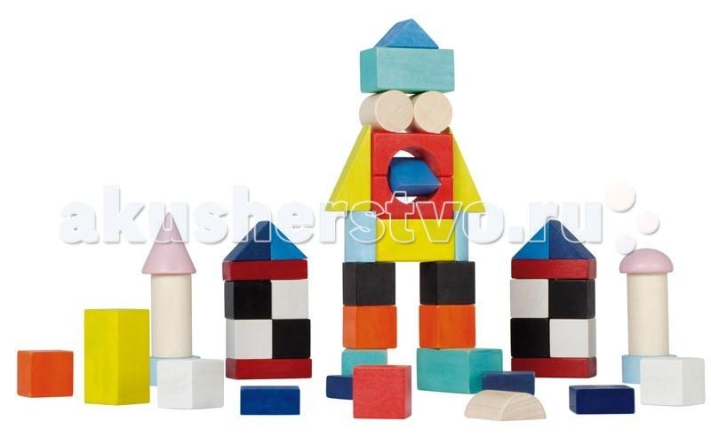 Конструктор Janod Разноцветные блоки 50 шт.Разноцветные блоки 50 шт.Janod Конструктор Разноцветные блоки, 50 шт.  В набор входит 50 разноцветных элементов разной формы. Кубики, разнообразные прямоугольники, цилиндры, призмы, конусы, пирамиды. Если их сочетать друг с другом, то можно построить множество самых разнообразных конструкций. Элементы этого конструктора замечательно комбинируются с другими наборами от компании Janod. Все элементы набора выполнены из дерева и окрашены безопасными для детей водорастворимыми красками.  Играя вы повторяете с ребенком основные цвета и оттенки: красный, розовый, желтый, оранжевый, черный, белый, синий, голубой. А так же учите название основных геометрических фигур: куб, параллелепипеды, цилиндры, призмы, конусы, пирамиды, полусфера.Набор станет замечательным и желанным подарком для любого ребенка старше 1,5 лет. Игрушка упакована в оригинальную коробку с ручкой из толстой черной веревки.  Описание товара: 50 разноцветных деревянных элементов различной формы приятные, натуральные цвета применяются водорастворимые краски, безопасные для детей оригинальный французский дизайн набор предназначен для детей от 1,5 лет красивая подарочная коробка.<br>