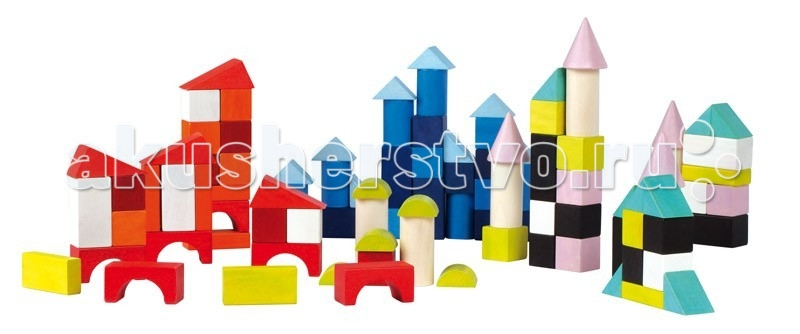 Конструктор Janod Разноцветные блоки 100 шт. Разноцветные блоки 100 шт. J08061