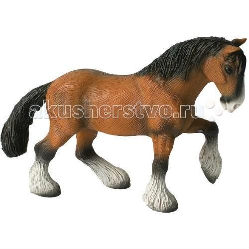Bullyland Фигурка Конь шайрской породы 16,2 смФигурка Конь шайрской породы 16,2 смBullyland Фигурка Конь шайрской породы 16,2 см - английский тяжеловоз - конь Шайрской породы. Для него характерны: высокий рост и белые чулки на ножках. Масть бывает различной: гнедая, вороная, серая, рыжая. Фигурка коня Шайрской породы хорошо отражает его силу, неутомимость, здоровье и добрый нрав. Таких коней использовали на тяжелых работах, требующих физической силы.   Фигурка выполнена с учетом анатомических особенностей и в соответствии с внешним видом животного. Игрушка из высококачественных, нетоксичных материалов и абсолютно безопасна для детей.   Размер: 113 х 43 х 78 мм<br>