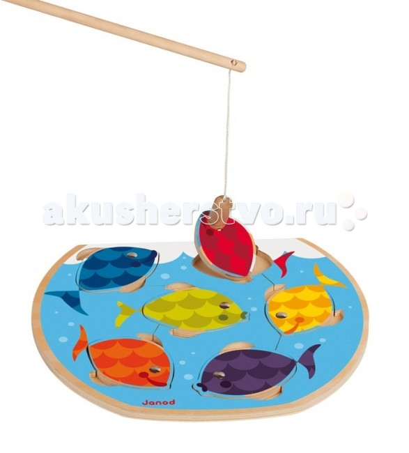Janod Игра магнитная с удочкой Скоростная рыбалка
