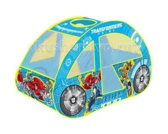 Играем вместе игровая палатка Transformers машинка в сумкеигровая палатка Transformers машинка в сумкеДетская игровая палатка «Трансформеры. Машинка»в сумке подарит вашему ребенку множество увлекательных часов игры. Послужит отличной игрушкой как дома, так и на свежем воздухе в теплое время: варианты игры могут быть ограничены лишь фантазией ребенка.   Мобильная и качественная, палатка имеет компактные размеры:  Ширина 70 см Длина 126 см Высота 80 см Материал: текстиль, металлический проволочный каркас.<br>