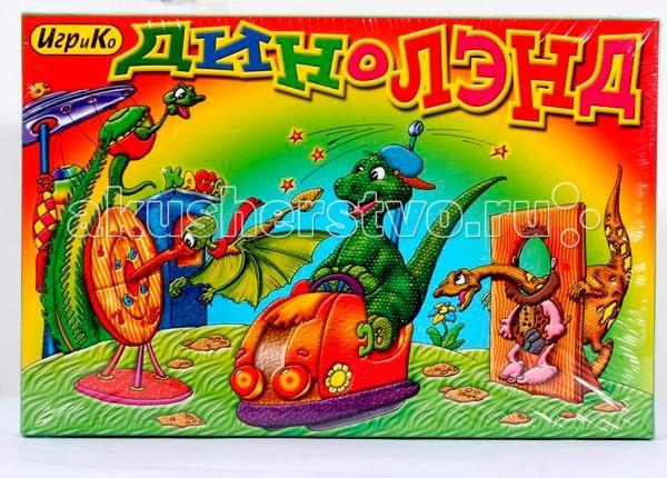 Игр и Ко Настольная игра ДинолендНастольная игра ДинолендИгр и Ко Настольная игра Диноленд с красками.   Особенности: Игры-ходилки очень полезны для малышей.  Развивающая игра с 6 красками «Диноленд» с интересным и увлекательным сюжетом, где необходимо ходить героями и достигать финиша.  Количество ходов измеряют при помощи кубика, а по игровому полю передвигаются фишками.  С помощью азартной игры ребенок развивает координацию движений, сосредоточенность, внимание, осваивает физическое пространство, учится считать и различать образы.   В комплекте: игровое поле фишки кубик 6 раскрасок<br>