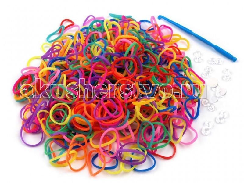 Colorful Bands Набор для рукоделия Цветочек 700 шт + крючок + бусиныНабор для рукоделия Цветочек 700 шт + крючок + бусиныНабор для рукоделия Colorful Bands Цветочек  Яркие браслеты из резиночек плетутся быстро и разнообразно. Поможет Вашему ребенку развиваться творчески, проявлять свою фантазию и воображение.    В комплекте:    700 резиночек  крючок   Ваш ребенок проведет время с пользой и получит море удовольствия, делая красочные браслеты, кольца, подвески, а также всевозможные поделки своими руками.<br>