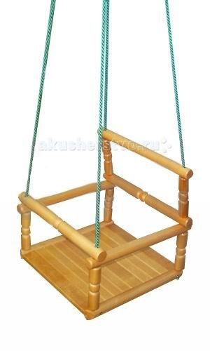 Качели KMS-sport деревянные детские подвесные
