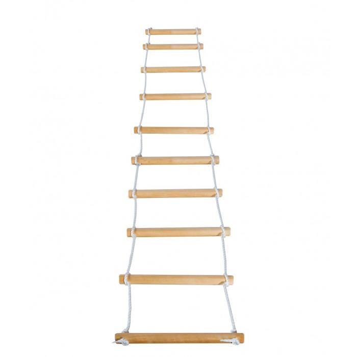 KMS-sport Лестница веревочнаяЛестница веревочнаяЛестница веревочная крепится к большинству видов ДСК.  Длина каната: 2,00 м Размеры: 0,35 х 0,03 м Допустимая нагрузка: 100 кг<br>
