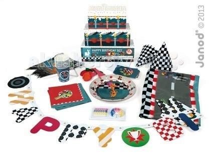 Janod Набор для детского праздника Автогонки