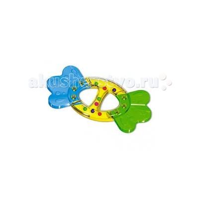 Прорезыватель Стеллар с погремушкой Бантикс погремушкой БантикПрорезыватель Стеллар Бантик — необычная погремушка-прорезыватель, призванная снизить дискомфорт от появления первых зубов.    Особенности:    Ее форма выверена с точностью до миллиметра – игрушка идеально ложиться в руки малышей.   Разноцветные гремящие шарики приковывают детское внимание, мотивируя ребенка проводить с погремушкой как можно больше времени.   В процессе игры малыш может без опасения грызть игрушку – материалы ее изготовления нетоксичны и абсолютно безопасны для детского здоровья.   Погремушка также не имеет острых краев, колющих и режущих поверхностей.   Подойдет как для комбинирования с другими погремушками, так и в качестве самостоятельного «прорезывателя».   Легко моется теплой водой, не имеет на своей поверхности токсичных лакокрасочных материалов и отличается высокой прочностью – сломать эту погремушку крайне сложно.  Способствует развитию познавательной активности, мелкой моторики, внимания, восприятия.<br>