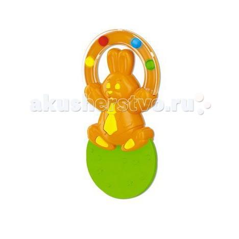 Прорезыватель Стеллар с погремушкой Жонглерс погремушкой ЖонглерПрорезыватель Стеллар Жонглер — необычная погремушка-прорезыватель, призванная снизить дискомфорт от появления первых зубов.      Ее форма выверена с точностью до миллиметра – игрушка идеально ложиться в руки малышей.   Разноцветные гремящие шарики приковывают детское внимание, мотивируя ребенка проводить с погремушкой как можно больше времени.   В процессе игры малыш может без опасения грызть игрушку – материалы ее изготовления нетоксичны и абсолютно безопасны для детского здоровья.   Погремушка также не имеет острых краев, колющих и режущих поверхностей.   Подойдет как для комбинирования с другими погремушками, так и в качестве самостоятельного «прорезывателя».   Легко моется теплой водой, не имеет на своей поверхности токсичных лакокрасочных материалов и отличается высокой прочностью – сломать эту погремушку крайне сложно.  Способствует развитию познавательной активности, мелкой моторики, внимания, восприятия.<br>