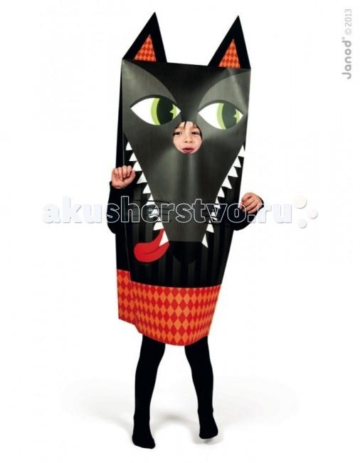 Janod Маскарадный костюм ВолкМаскарадный костюм ВолкJanod Маскарадный костюм Волк.  Маскарадный костюм Волк, производства французской компании Janod хорошо подойдет мальчику или девочке 3, 4, 5 или 6 лет.Какой же детский праздник обходится без маскарадных костюмов?! Недорогой, но эффектный красочный костюм для главного героя и его гостей не только придаст особенную праздничную атмосферу, но и позволит разыграть целый спектакль.  Костюм выполнен из плотной цветной бумаги, имеет прорезь для рук и головы. Ребенок будет чувствовать себя комфортно и удобно внутри. Бумажный костюм можно использовать для дня рождения, утренника в саду, детского спектакля, любого детского праздника дома или на свежем воздухе.   Детский костюм из бумаги для праздника Волк для умных и выносливых. В костюме волка преобладает темно-серый цвет. Морда волка немного светлее. На ней хорошо видны большие белые зубы, черный нос, большой красный язык, черные усы и хитрые зеленые глаза. Нарядность костюму придает нижняя часть с рисунком в желто-красных ромбах. Сверху пришиты два треугольных ушка с яркими вставками. Костюм упакован в красивую подарочную упаковку.  Маскарадный костюм Волк, Janod: недорогой и очень эффектный для мальчиков и девочек от 3 до 6 лет сделан из бумаги комфортный и удобный для ребенка можно использовать дома или на свежем воздухе подходит для игр на любом детском празднике поднимет настроения и детям, и взрослым подарочная упаковка.<br>