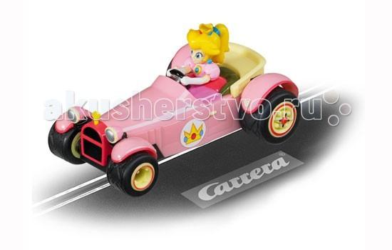 Carrera Автомобиль Mario Kart DS Peach Royale GOАвтомобиль Mario Kart DS Peach Royale GOCarrera Автомобиль Mario Kart DS Peach Royale GO - дополнительный автомобиль Mario Kart DS Peach Royale от Carrera станет отличной машинкой для девочки, автомобиль которой легко сможет бросить вызов другим авто! Кто сказал, что девочки не играют в машинки? Ещё как играют, более того, они часто выигрывают в разных состязаниях и всё благодаря таким машинкам, как эта.  Девочка, которая сидит в розовом авто, благодаря развивающимся волосам, сразу же напоминает о том, что идёт соревнование между двумя автомобилями.  В комплект набора, кроме машинки, входит фигурка девочки-водителя.  Если у Вас девочка и мальчик, то Вы, наверное, сталкивались с тем, что одному не интересно играть в куклы, а второй совсем не нравится возиться с машинками. Этот автомобиль всё исправит, а Ваши дети часами напролёт будут играть вместе в любимую игру!  Машинка подходит для всех треков серии GO!!!  Масштаб автомобиля 1:43.<br>