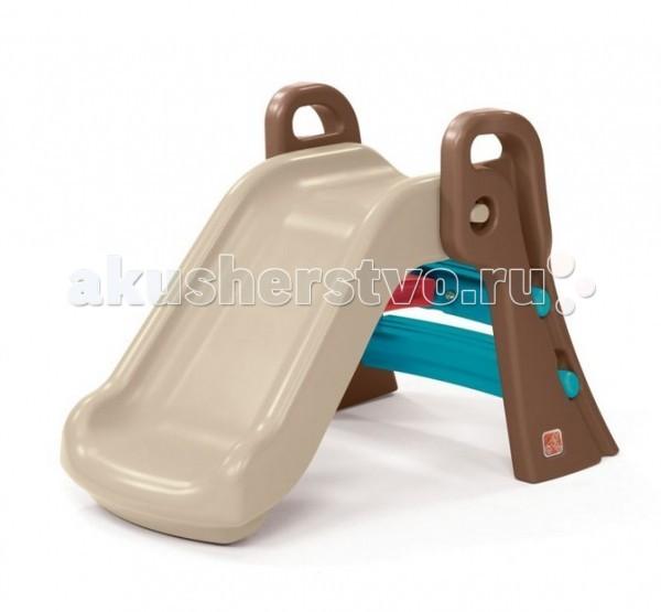 Горка Step 2 МалышМалышГорка Step 2 Малыш имеет устойчивую конструкцию и изготовлена и высококачественного пластика, который не выгорает и не деформируется от непогоды.  Особенности: Замечательная горка американской компании Step 2 идеально впишется в ландшафт любого двора, сада или детской площадки. Для маленьких непосед она станет любимым местом для активных игр.  Надежная и безопасная горка Малыш имеет прочные широкие ступени и высокие бортики, которые помогают и защищают ребенком во время игры.<br>