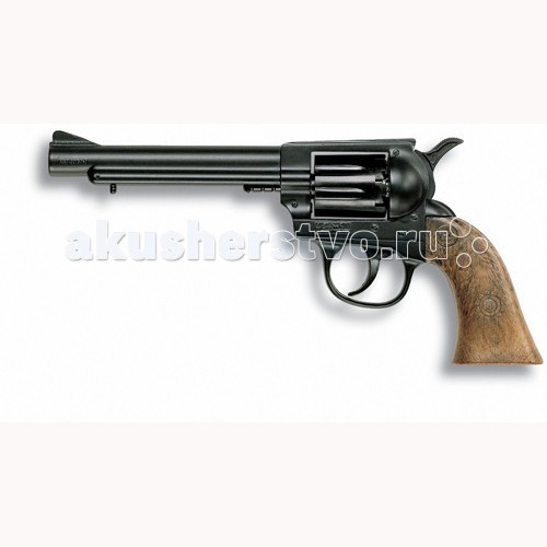 Edison Игрушечный Пистолет Дженни 21 смИгрушечный Пистолет Дженни 21 смEdison игрушечный Пистолет Дженни 21 см - отличное детское оружие для ковбоя или шерифа. Если вашему мальчику нравятся вестерны и истории про бандитов Дикого Запада, то у него обязательно должен быть игрушечный револьвер, чтобы защищать мирных жителей от легендарных грабителей!  Edison Giocattoli - компания, выпускающая свои игрушки с 1958 г. и только на собственных заводах в Италии.  Все игрушечные пистолеты выполнены из безопасных и качественных материалов.  Внимательно ознакомьтесь с инструкцией и соблюдайте меры предосторожности.  Ёмкость магазина: 8 пистонов  В поставку входит: литой пистолет.  Длина пистолета: 21 см.<br>