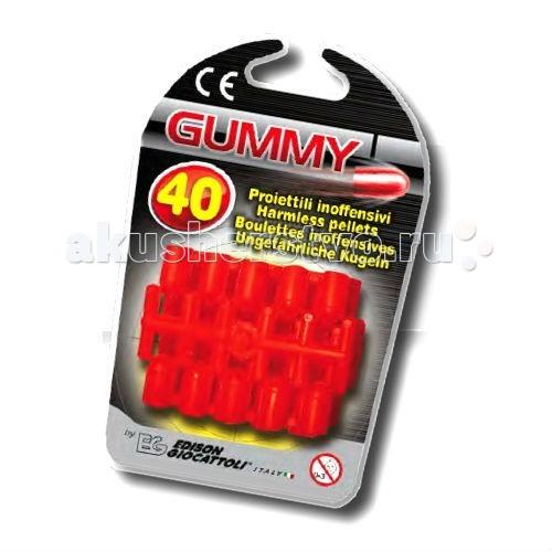 Edison Пульки мягкие Gummi 40 штПульки мягкие Gummi 40 штEdison Пульки мягкие Gummi 40 шт - для того чтобы у вашего ребенка не закончились боеприпасы, необходимо заранее позаботиться о покупке мягких пулек Gummi для соответствующих пистолетов.  Edison Giocattoli - компания, выпускающая свои игрушки с 1958 г. и только на собственных заводах в Италии.  Материалы, из которых сделаны мягкие пульки, безопасны для здоровья, экологичны и нетоксичны.  До эксплуатации игрушки изучите меры предосторожности при обращении с ней.  В поставку входит: 40 мягких пулек.<br>