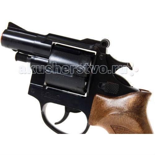 Edison Игрушечный Пистолет Фантом с глушителем 22,1 смИгрушечный Пистолет Фантом с глушителем 22,1 смEdison Игрушечный Пистолет Фантом с глушителем 22,1 см - очень реалистично выполненная модель 8-зарядного револьвера. Игрушечный пистолет Phantom лежит в руке как влитой благодаря удобной ручке. Такой стильный игрушечный пистолет с глушителем будет отличным подарком любому мальчишке, который хочет остаться незаметным.  Edison Giocattoli — итальянский производитель игрушечного оружия для социально-ролевых игр, развивающих в детях чувство справедливости, мышление и ловкость.  Материалы, из которых сделана игрушка, безопасны для здоровья, экологичны и нетоксичны.  Ознакомьтесь с инструкцией для игрушки и соблюдайте меры безопасности при ее использовании.  Ёмкость магазина: 12 пистонов  В комплекте: игрушечный пистолет, глушитель.  Длина пистолета: 22,1 мм<br>