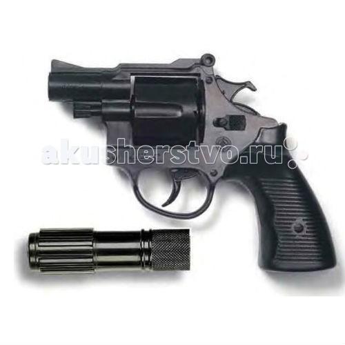 Edison Игрушечный Пистолет с глушителем Американский полицейский/Americana Polizei 22,1 см