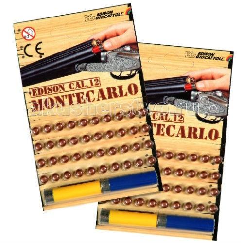 Edison игрушечные пистоны 40 штук и 2 гильзы Монтекарло