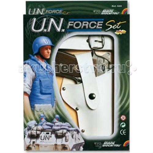 Edison Игрушечный Набор с пистолетом кобурой и ремнем UN-Force-Set
