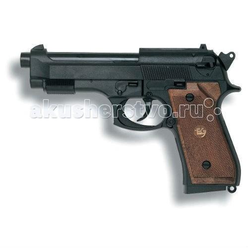 Edison Игрушечный Пистолет Парабеллум 19,3 смИгрушечный Пистолет Парабеллум 19,3 смEdison Пистолет Парабеллум 19,3 см - удобное и качественное детское оружие. Стрельба производится легким нажатием на курок, перезаряжается пистолет тоже предельно просто. Игрушечный пистолет Parabellum станет незаменимым помощником вашему маленькому полицейскому или солдату. Идеально подходит для активных ребят и непосед.  Все игрушки компании Edison Giocattoli производятся в Италии, обладают высокими показателями качества и долговечности.  Игрушка изготовлена из безопасных, нетоксичных и качественных материалов, безопасных для здоровья детей.  Ознакомьтесь с инструкцией для игрушки и соблюдайте меры безопасности при ее использовании.  Ёмкость магазина: 13 пистонов  Длина пистолета: 19,3 см<br>
