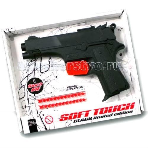 Edison Игрушечный Пистолет с пистонами Leopardmatic серия Soft Touch 17,5 смИгрушечный Пистолет с пистонами Leopardmatic серия Soft Touch 17,5 смEdison Игрушечный Пистолет с пистонами Leopardmatic серия Soft Touch 17,5 см - очень стильный черный игровой пистолет, отлично подходящий для игр про полицейских, современные войны или развлечений с фантастической тематикой. Такой игрушечный пистолет станет настоящим защитником вашего ребенка на поле боя.  Игрушечное оружие Edison Giocattoli — это лучшие детские пистолеты для мальчиков.  Игрушка изготовлена из безопасных, нетоксичных и качественных материалов, безопасных для здоровья детей.  Обязательно ознакомьтесь с инструкцией и соблюдайте меры безопасности.  Ёмкость магазина: 13 пистонов  В комплекте: игрушечный пистолет, пистоны.  Длина пистолета: 17,5 см<br>