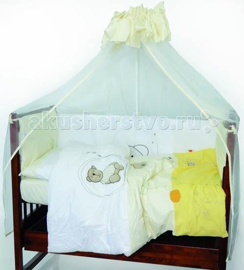 Балдахин для кроватки Kidboo Little BearLittle BearБалдахин Kidboo Little Bear украсит кроватку Вашего малыша, защитит его от укусов комаров и других насекомых, а также уменьшит попадание света для крепкого и здорового сна.  Подходит для всех стандартных держателей балдахина.  Размер 450х150 см.<br>