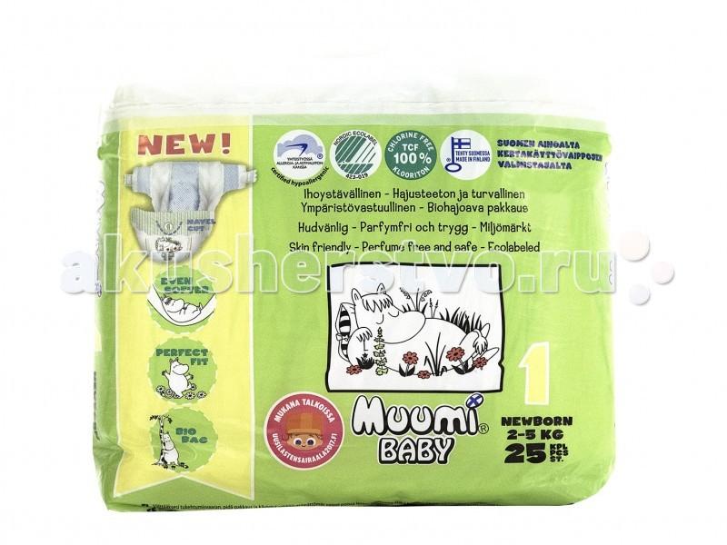 Muumi Подгузники Baby (2-5 кг) 25 шт.