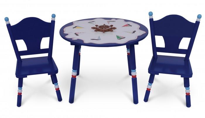 Major-Kids Комплект из стола и двух стульев Маленький Капитан