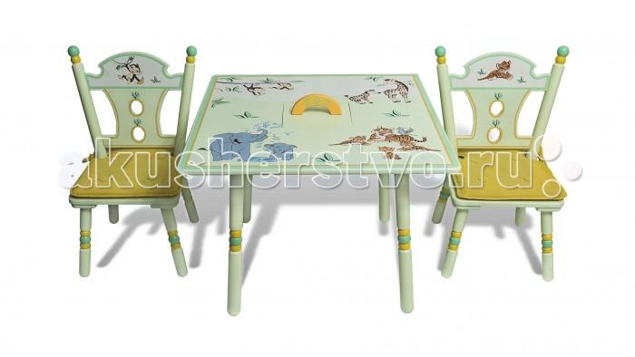 Major-Kids Комплект из стола и двух стульев Зоопарк