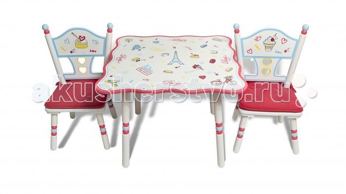 Major-Kids Комплект из стола и двух стульев Париж