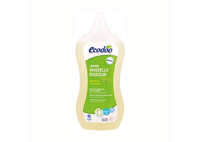 Ecodoo Средство для мытья посуды с алоэ вера 1000 млСредство для мытья посуды с алоэ вера 1000 млСредство для мытья посуды Ecodoo с алоэ вера 1000мл   Особенности:    очищает, удаляет жир и придает блеск посуде  экономичный расход (0,5 л. = 2 л. классического средства для мытья посуды, 1 л. = 4 л. классического средства для мытья посуды)  благодаря экстракту алоэ вера защищает кожу рук;   полностью смывается водой  при использовании в чистом виде удаляет пятна с одежды.  Биоразлагаемая формула.  Подходит для септической канализации  Сертификат ECOCERT - гарантия экологической чистоты продукта:  средство не содержит синтетических красителей, ароматизаторов, консервантов, продуктов нефтехимии, хлора, фосфатов, ГМО и т.д.  активные ингредиенты только растительного и/или минерального происхождения  100% натуральные ароматы экологически чистых эфирных масел  безопасная рециклируемая упаковка  не тестируется на животных    Состав:  >30% вода; 5-15% растительные ПАВы анионного происхождения; < 5% растительные ПАВы неионного происхождения, растительные ПАВы амфотерного происхождения; молочная кислота (кислоту получают при брожении сахара в молочно-кислых бактериях); сорбат калия (природный консервант, калиевая соль сорбиновой кислоты, которая находиться в ягодах рябины); соль; эфирное масло грейпфрута*, ароматическая композиция лимон*-манго*; алоэ-вера*; парфюм (под контролем ECOCERT);  * экологически чистые ингредиенты (произведены в соответствии с нормами биологического земледелия)<br>