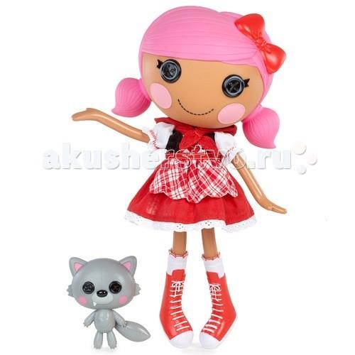 Lalaloopsy Красная шапочкаКрасная шапочкаКукла Lalaloopsy Красная шапочка - имитация тряпичной куколки.  Необычная и яркая кукла в наборе с забавным питомцем. У каждой из них своя уникальная история.   Руки и ноги на шарнирах, коробка в виде домика для куклы.  Родилась 18 мая в День внимания к бабушкам. Эта милая куколка сшита из красной шапочки одной известной сказочной героини. Она всегда носит яркую одежду, любит заводить новых друзей и устраивать с ними пикники в лесу. Её питомец, как ни странно, серенький волчок, и, на удивление всем лесным зверятам, она с ним отлично ладит.  Высота игрушки: 32 см<br>