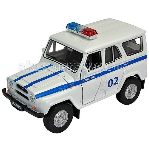 Welly Модель машины 1:34 УАЗ 31514 ПолицияМодель машины 1:34 УАЗ 31514 ПолицияКоллекционная модель машины УАЗ 31514 в масштабе 1:34-39 от Welly с инерционным механизмом.  Автомобиль окрашен в цвета Полиции России, корпус детально проработан и оснащён открывающимися элементами.<br>
