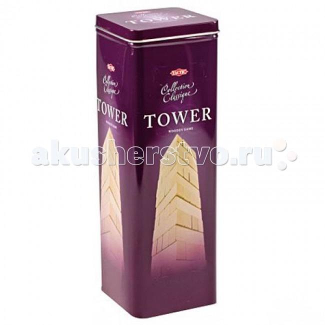Мировые ХИТы Настольная игра Tactic. БашняНастольная игра Tactic. БашняВ настольной игра «Башня» (известной также как «Падающая Башня», «Городок», «Дженга») из ровных деревянных брусков строится башня (каждый новый «этаж» делается с чередованием направления укладки), а затем игроки начинают аккуратно вытаскивать по одному бруску и ставить его на верх башни. Побеждает тот, кто последним достанет брусок и не обрушит башню.  Почему эта игра полезна для детей? Во-первых, «Башня» очень хорошо развивает мелкую моторику, то есть активизирует участки мозга, отвечающие за сенсорику и мышление. Известно, что подобные игры способствуют профилактике различных сердечно-сосудистых заболеваний в старости и существенно ускоряют интеллектуальное развитие ребёнка. Во-вторых, «Башня» учит пространственному и архитектурному мышлению: представить, какой брусок менее нагружен, чтобы вытащить его — задача достаточно сложная, но очень нужная ребёнку. В-третьих, игра развивает командный дух: дети могут играть в неё вместе и улучшать свои навыки коммуникации. В-четвёртых, «Башня» очень хороша в качестве семейной игры: ведь в неё интересно играть и детям, и взрослым.  Содержимое коробки: В жестяной коробке находится 48 ровных бруска квадратного сечения из плотного дерева, и форма для строительства ровной башни, с которой и начинается игра.  Кол-во игроков: 2 - 10 человек Продолжительность игры: 5-15 минут<br>