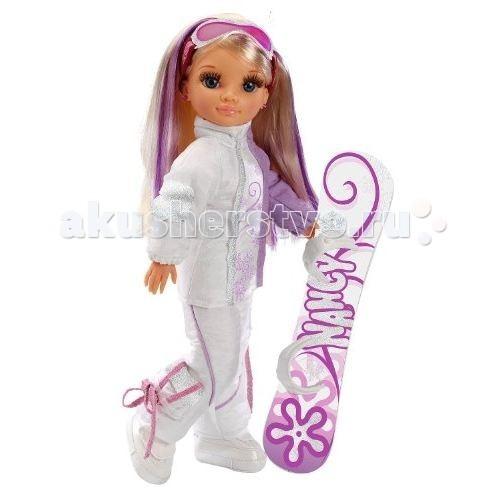 Famosa Кукла Нэнси Зимняя красавица в костюме для сноубордаКукла Нэнси Зимняя красавица в костюме для сноубордаКукла Famosa Нэнси Зимняя красавица в костюме для сноуборда - замечательная кукла, имеющая шикарные длинные волосы и выразительные глаза. Кукла одета в костюм для сноуборда, спасающий от зимних холодов, поэтому кататься на сноуборде можно даже в самый лютый мороз.   Девочки с удовольствием играют такими куклами, так как они яркие, красивые и абсолютно безопасны. Зимняя красавица предназначена для детей, которым уже исполнилось три года.<br>