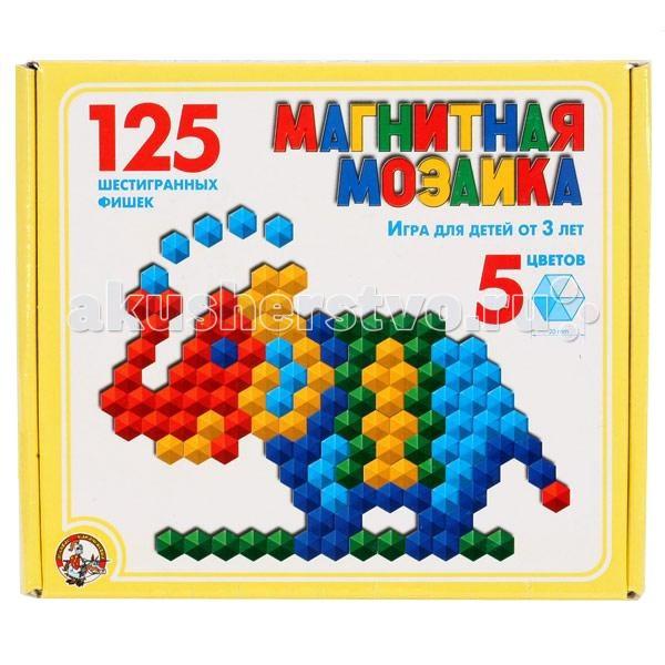 Тридевятое царство Шестигранная магнитная мозаика 125 деталей 00962