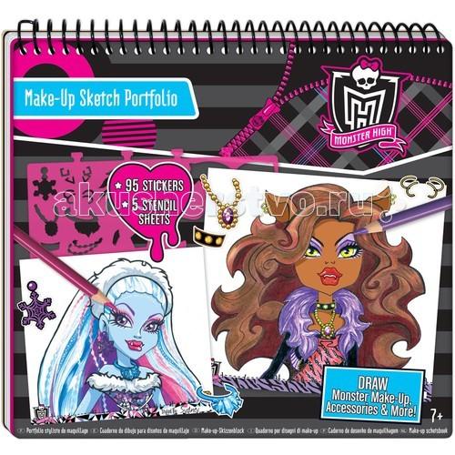 Fashion Angels Портфолио Визажист для монстраПортфолио Визажист для монстраFashion Angels Портфолио Визажист для монстра - станет хорошим подарком для маленьких любительниц обаятельных монстров из популярной серии кукол Monster High. С таким набором можно создать необычный макияж для любой вечеринки.  В комплекте: 40 страниц с нанесенными силуэтами, 5 листов пластиковых трафаретов и 95 разнообразных наклеек.  Для детей от 7 лет.<br>