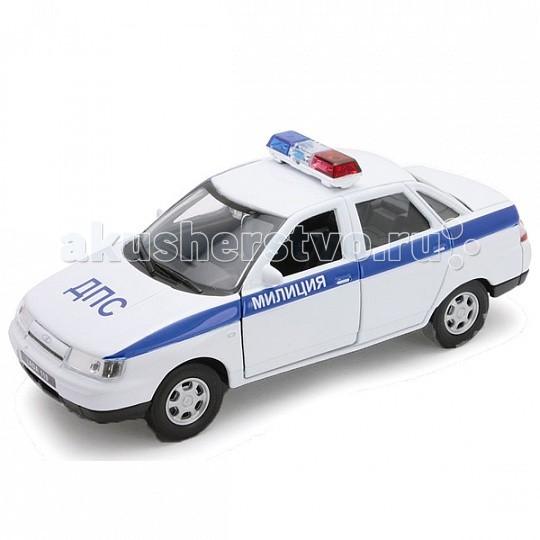 Welly Модель машины 1:34 Lada 110 Милиция ДПСМодель машины 1:34 Lada 110 Милиция ДПСКоллекционная модель машины масштаба 1:34-39 Lada 110 Милиция ДПС.   Функции модели: открываются передние двери, инерционный механизм.<br>