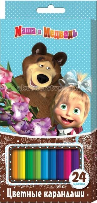 Маша и Медведь Цветные карандаши 24 9 цв. 22287