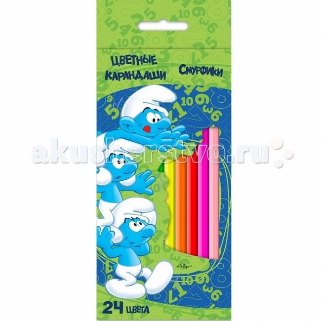 Смурфики цветные 24 цв. 22365