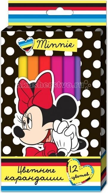 Disney Минни цветные толстые трёхгранные 12 цв. 22633