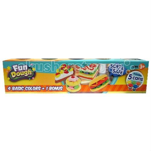 Fun Dough ����� ���������� 4 ����� + 1 �����