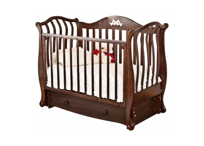Детская кроватка Можга (Красная Звезда) Юлиана С-757 (маятник продольный) Резьба №8