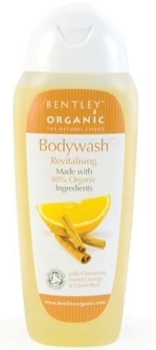 Bentley Organic Гель для душа оживляющий с корицей, сладким апельсином, гвоздикой 250 млГель для душа оживляющий с корицей, сладким апельсином, гвоздикой 250 млОживляющий гель для душа Bentley Organic глубоко очищает эпидермис, насыщая клетки витаминами и тем самым оздоравливая кожу.   Комплекс натуральных компонентов обеспечивает полноценное питание и уход. Эфирное масло апельсина заметно оживляет и тонизирует, дарит коже подтянутость и упругость. Масла корицы и гвоздики дарят здоровое сияние, естественный ровный тон и удивительную гладкость.   Гель Bentley Organic – сертифицированное органическое средство. Он не содержит вредных химических добавок, отдушек и красителей. Дерматологически протестирован, совместим со всеми типами кожи. Гель обладает освежающим цитрусовым ароматом, который великолепно бодрит и заряжает энергией.   Рекомендации к применению: гель Bentley Organic подойдет для бережного очищения и тонизирования любых типов кожи всех членов семьи.  Активные компоненты: Эфирное апельсиновое масло – поддерживает оптимальный баланс влажности кожи, тем самым предотвращая чрезмерную жирность и сухость. Стимулирует обновление эпидермиса, тем самым способствует заживлению ранок и прыщиков, а также повышению упругости и общего тонуса кожи.   Способ применения: вспеньте нужное количество геля Bentley Organic на губке или в ладонях, распределите на коже, помассируйте. Смойте большим объемом водой.   Состав: Вода, Калия Олеат, Калия Кокоат, Лаурил бетаин, Глицерин, Натрия хлорид, Калия Цитрат, Дециловый глюкозид, Масло листьев чайного дерева, Масло листьев эвкалипта, Оливковое масло, Лимонен.<br>